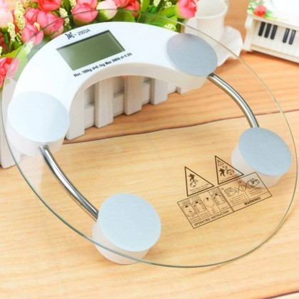 33cm Round Transparent Tempered Glass LCD Digital Weighing Scale