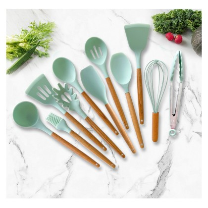 12 pcs Cooking Tools Kitchen Cookware Set Silicone Utensils Cooking Set