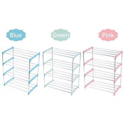 3 Tiers/ 4 Tiers Easy Assemble Stainless Steel Economic Shoe Rack