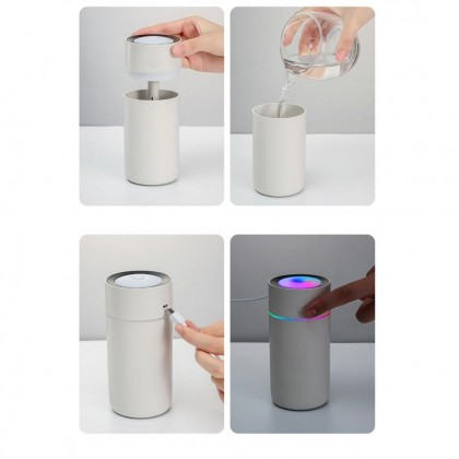Turning Color Cup Humidifier USB Diffuser for Aroma in Home Office Car with Rainbow LED