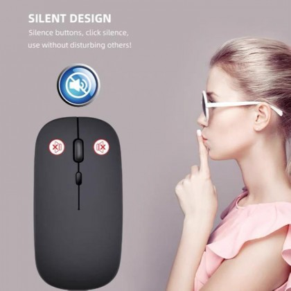 2.4Ghz Receiver Rechargeable Mouse Wireless Silent LED Backlit Mice USB Optical Mouse PC Laptop